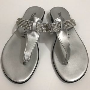 Shoes - Silver Sparkle Sandals